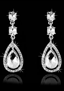 In Stock Great Alloy Wedding Earring With Rhinestones