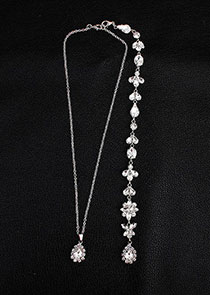 In Stock Marvelous Alloy Body Jewelry Back Chain With Rhinestones