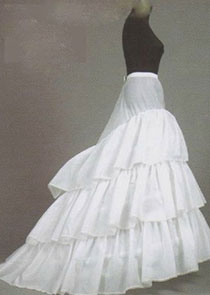 In Stock Polyester White Wedding Petticoat With Elastic Band