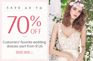 Save up to 70% off selected bridal gowns